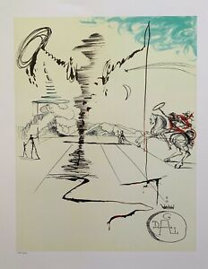 SALVADOR DALI DON QUIXOTE CHEVALIER SPINNING MAN Limited Edition Lithograph Art $59.99
