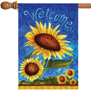 Toland Sweet Sunflowers 28 x 40 Colorful Flower Welcome Double Sided House Flag
