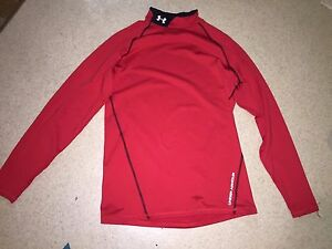 Under Armour Red Dry Fit Long Sleeve Shirt Size Medium - Men's or Women's