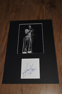 ISAAC HAYES signed 8x12 inch autograph matted InPerson Germany LOOK
