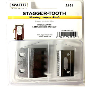 Wahl Stagger-Tooth 2-Hole Clipper Blade for 5 Star Cordless Magic Clip #2161