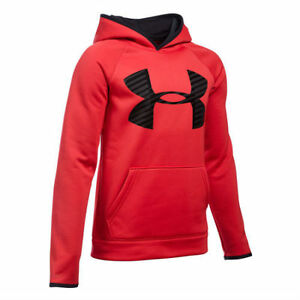 Under Armour Boys' Storm Armour Fleece Highlight Big Logo Hoodie-XL