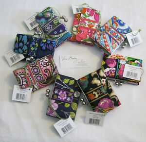 Vera Bradley SMALL KISSLOCK CLUTCH Wallet COIN for Purse TOTE Backpack BAG  NWT
