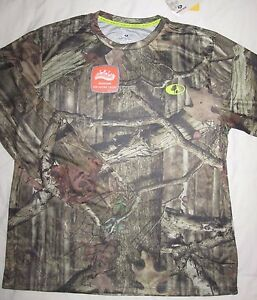 NEW! Men's Mossy Oak BREAK-UP Camo Long Sleeve Performance Dry Fit T Shirt Tee M