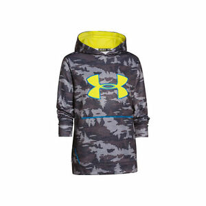 Under Armour Youth STORM Caliber Hoodie (Charcoal Camo)- Small