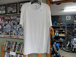 Nike Pro Fit Dry Men's Athletic Shirt Size L White Polyester blend