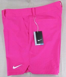 NIKE Golf Women's Dri-Fit Performance Athletic Shorts Pink Polka Dot 14 16 NEW