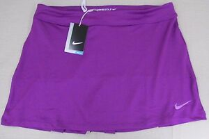 NIKE Golf Women's Dri-Fit Performance Skirt Shorts Set Purple Medium NEW