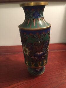 chinese antique cloisonne vase $125.00