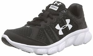 Under Armour Boys' Assert 6 Running Shoes Shoe blackWhite Size 1