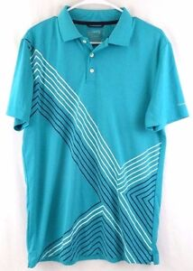 Chaps Golf Mens Green Polyester Stay Dry Custom Fit Polo Shirt Sz M