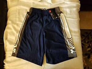 UNDER ARMOUR Basketball Athletic Loose Blue  White Shorts Mens  Medium (M) NWT