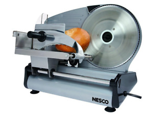 NEW Nesco Electric Kitchen Meat Slicer Cup Food Attachment Processor Steel