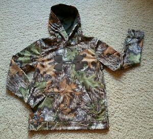 NWT $60 Boy's UNDER ARMOUR STORM 1 Realtree CAMO Hoodie Jacket SZ L