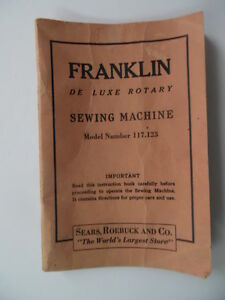 franklin sewing machine manual