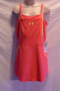 Under Armour Womens Hot Pink Fitted Australia Tennis Dress Size Large NWT