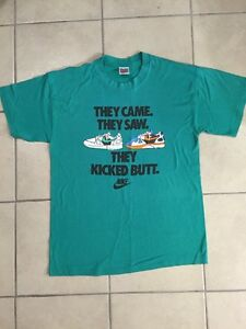 Vintage NIKE Running Collector T SHIRT XL 80s 90s