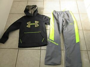 Under Armour Storm Hoodie & Pants sz Youth M...GET BOTH Camo  Bright Yellow
