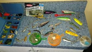 Huge lot Fishing lure Salmon Plug spoon jig spinner