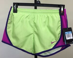 NIKE YOUTH GIRLS PRINTED RUNNING SHORTS 641665 342 M NWT $28