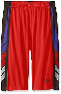 Under Armour Boys' Select Basketball Shorts Risk RedBlack Youth Large