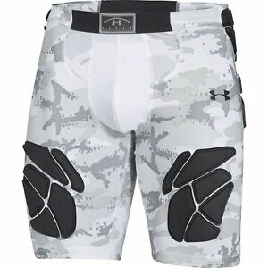 Under Armour Gameday Armour 5-Pad Camo Girdle - Men's White  Black XL