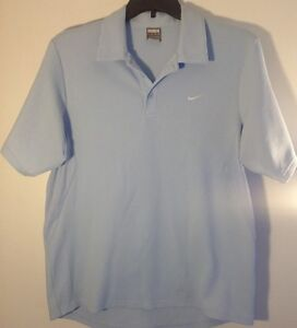 NIKE Sz. Large Fit Dry Men's Baby Blue POLO Shirt