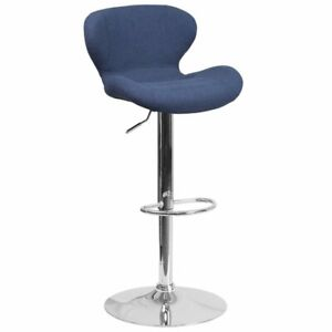 Flash Furniture Fabric Adjustable Bar Stool in Blue