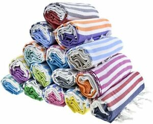 Sale Set of 5 EXTRA LARGE 100 % Turkish Cotton Bath Towels Spa Gym Pool Beach