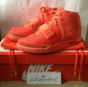 NIKE AIR YEEZY 2 RED OCTOBER Sz US6 UK5.5 KANYE WEST 508214-660 LEGIT+Receipt