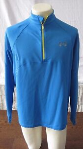 Mens Blue Under Armour All Season Gear  TrackRunning Shirt Jacket Dry Fit M