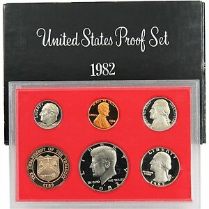 1982 S Proof Set United States US Mint Original Government Packaging Box