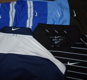 Lot 5 Nike Dri-Fit Fit-Dry Mens Polo Shirts S Small READ MINTY