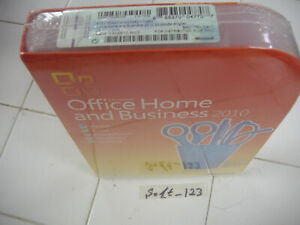 Microsoft Office 2010 Home and Business For 2 PCs Full Retail Version=SEALED BOX
