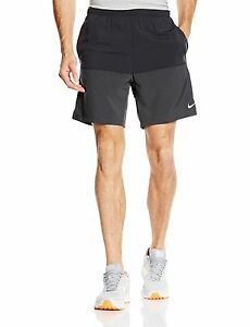 Nike Men's Dri-Fit Distance Running Shorts BlackAnthraciteReflective Silver
