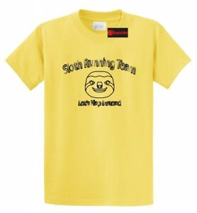 Sloth Running Team Let's Nap Instead T Shirt Funny Slow Sleepy An