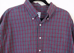 Brooks Brothers Button Front Long Sleeve Sport Shirt Men's Size XL