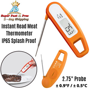 Internal Meat Thermometer Digital Instant Read Thermapen Cooking Tool Orange NEW