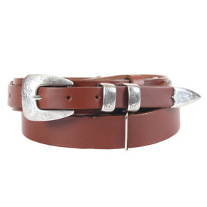 Leather Mens Belt Adjustable No. 2 Ranger Stye USA Unique Design