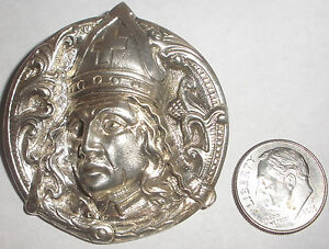 Antique Norwegian Norway Henrik Moller Trondhjem Silver 830 Bishop brooch