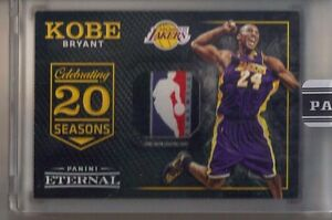 2016 Panini Eternal Kobe Bryant NBA Logoman Logo Game Used Shooting Shirt #11
