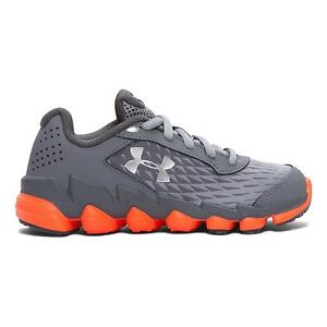 Under Armour Boys' Pre-School UA Spine Disrupt Running Shoes Steel