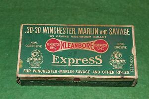 Remington UMC .30-30 Winchester Marlin and Savage Empty Green Express Train Box