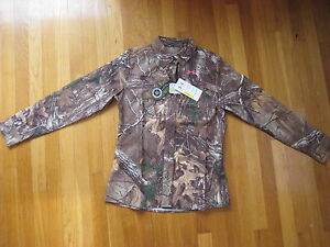 Under Armour womens UA Performance Field SHIRT hunting Realtree camo pink hunt S