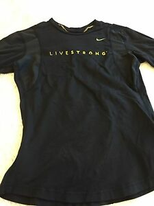 Nike Fit Dry Livestrong boys shirt SZS 4-6 Running T shirt Athletic Youth sports