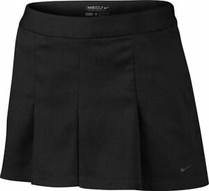 NIKE GOLF Dri Fit Majors Moment Black Shorts Faux Skort Skirt NEW Womens Sz 10
