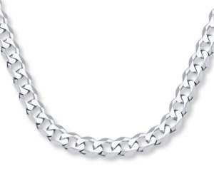 ITALY 925 SOLID Sterling Silver CURB Chain Necklace - Bracelet 7