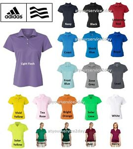 ADIDAS Womens Dri Wick Climalite GOLF Polo Sport Shirts Size S 2XL NEW A131 $24.95