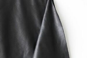Frogjelly Black Garment Cowhide Leather Side 12+ Square Feet
