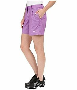 Nike Golf 725763 Women's sz 10 $75 Dri-fit Oxford Shorts Training Tennis PURPLE